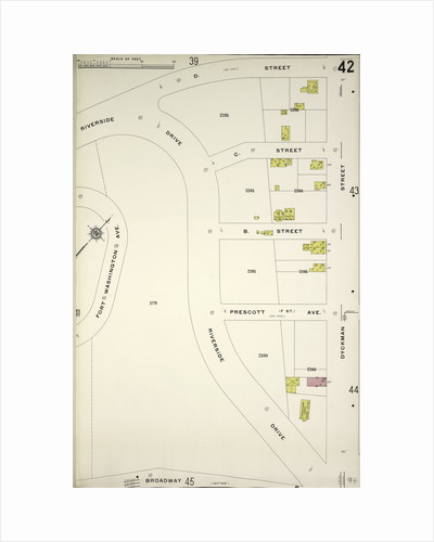 Map bounded by D. St., Dyckman St., Riverside Drive, New York by Anonymous