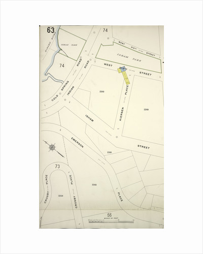 Map bounded by Cold Spring Rd., Crosby Place, New York by Anonymous