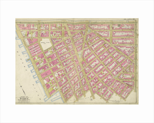 Map bounded by W. 14th St., 6th Ave., Bedford St., Hudson River, New York by Anonymous