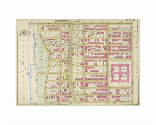 Map bounded by W. 86th St., Central Park W., W. 75th St., Hudson River, New York by Anonymous