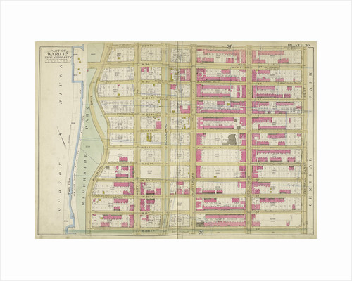 Map bounded by W. 97th St., Central Park W., W. 86th St., Hudson St., New York by Anonymous