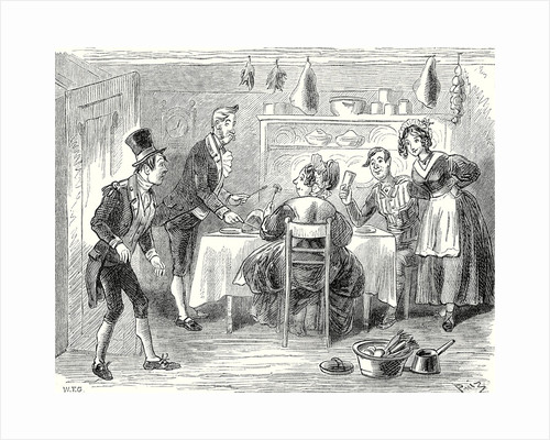 Pickwick Papers the Kitchen Door Opened and in Walked Mr. Job Trotter by Anonymous
