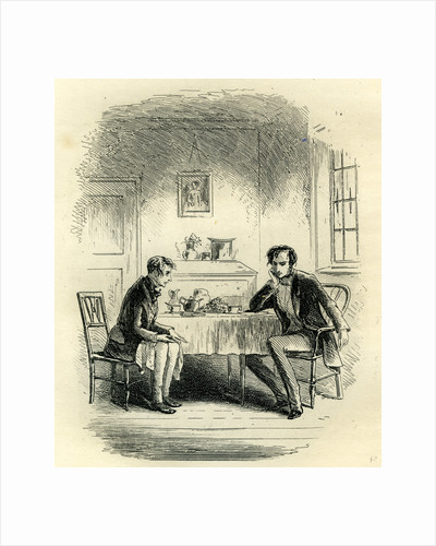 Little Dorrit at Mr. John Chivery's Tea-Table by Anonymous