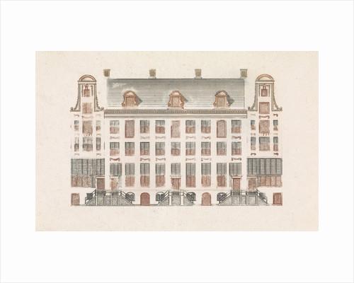 Amsterdam canal houses on the Keizersgracht 518-526 by Johan Teyler
