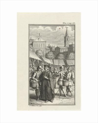 Clergyman robbed by a thief by Jacob Folkema