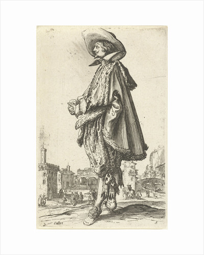 Noble man with hat, seen on the left by Frederik de Wit
