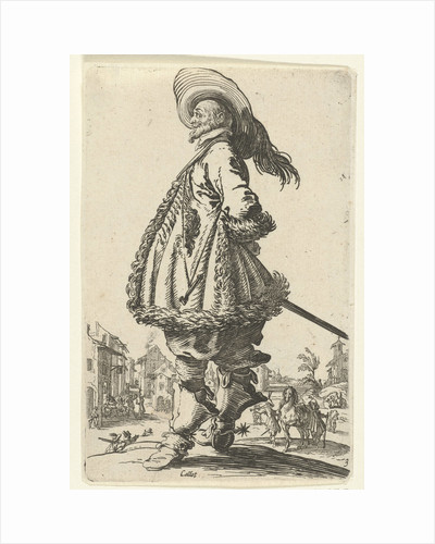 Rider with plumed hat by Anonymous