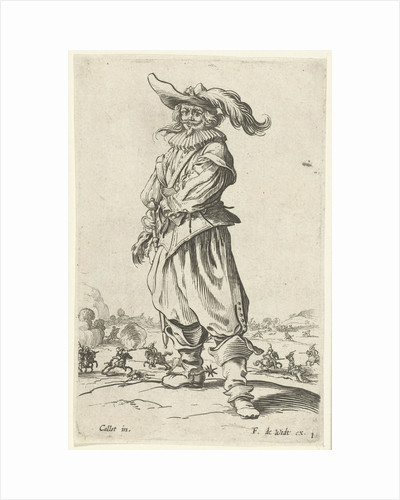 Horseman with plumed hat, seen from the front by Frederik de Wit