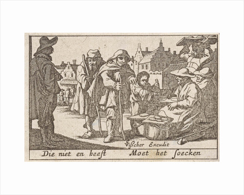 Beggars receiving alms by Claes Jansz. Visscher II