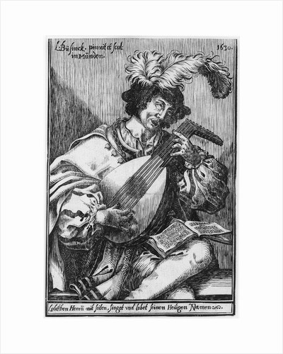 The lute player by Ludwig Büsinck