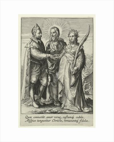 Marriage of spiritual love by Hendrick Goltzius