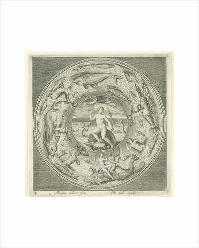 Dish with sea goddess Galatea? by Philips Galle