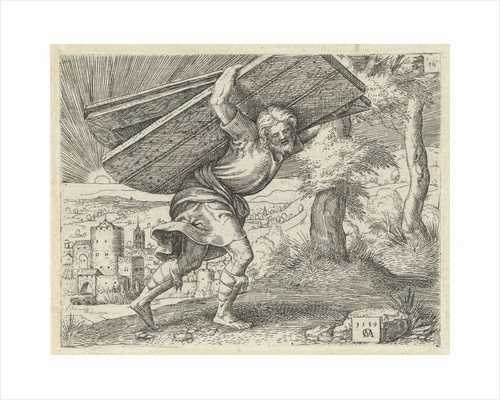 Samson carrying the gates of Gaza by Cornelis Massijs