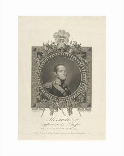 Portrait of Tsar Alexander I of Russia by W. Esser
