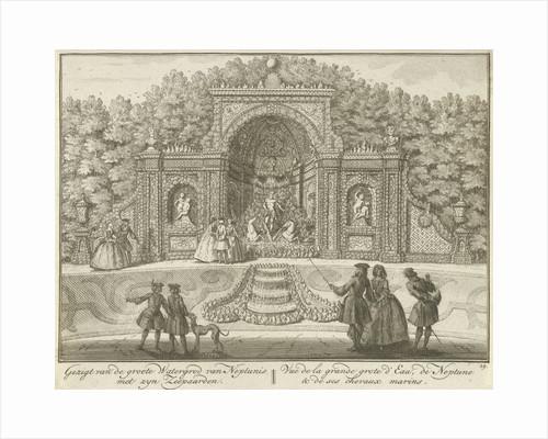 Water Neptune's Grotto in the garden of House ter Meer in Maarssen by Hendrik de Leth