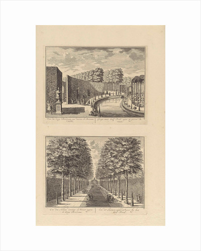 View of the semicircular closure of the garden behind Slot Zeist / View of the central avenue behind the garden at Slot Zeist by Daniël Stopendaal