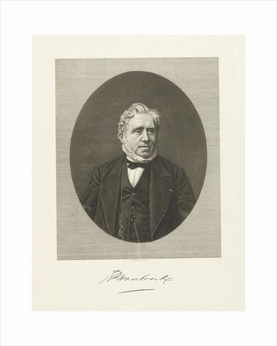 Portrait of Johannes Petrus Hasebroek by Friedrich Wilhelm Burmeister