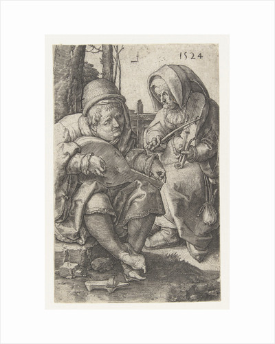 Couple making music by Lucas van Leyden