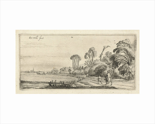Landscape with a rider and a hiker on a path to Hillegom by Esaias van de Velde