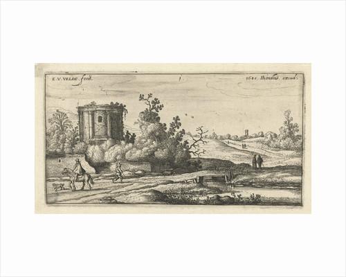 Landscape with ruins of a Roman temple by Esaias van de Velde