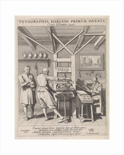 The invention of the printing press by Laurens Jansz. Coster by Haarlem