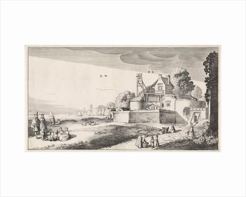 Bleekveld before a fortress by Jan van de Velde II