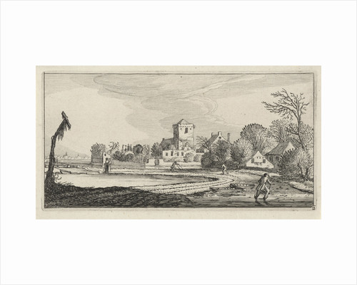 Winter Landscape with Skaters by Anonymous