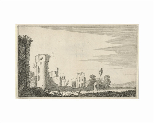 Goatherd in a ruined castle by Jan van de Velde II