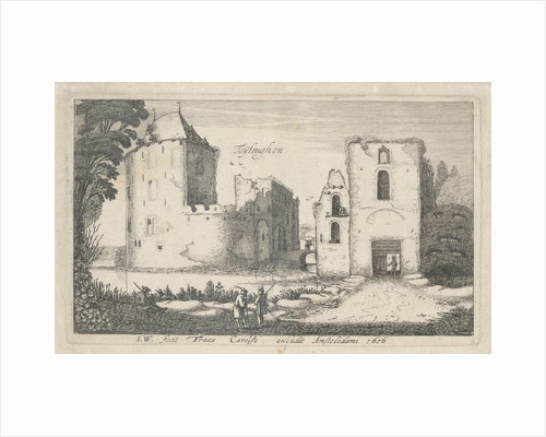 View of the ruined castle Teylingen by Frans Carelse