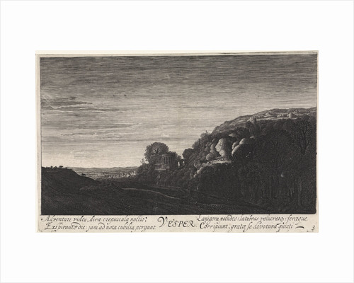 Hill landscape in the evening by Jan van de Velde II