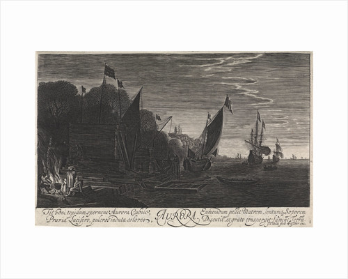Seascape with ships: dawn by Claes Jansz. Visscher II