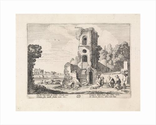 Landscape with a ruined tower: june by Jan van de Velde II