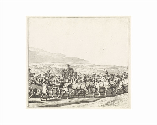Exodus from the Spanish army from Maastricht, 1632 (plate 4) by Claes Jansz. Visscher II