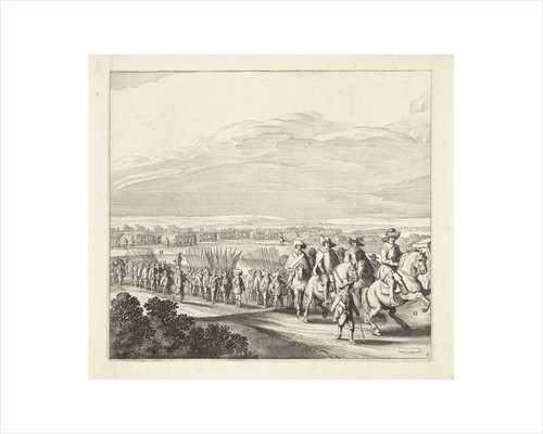 Exodus from the Spanish army from Maastricht, 1632 (plate 2) by Claes Jansz. Visscher II
