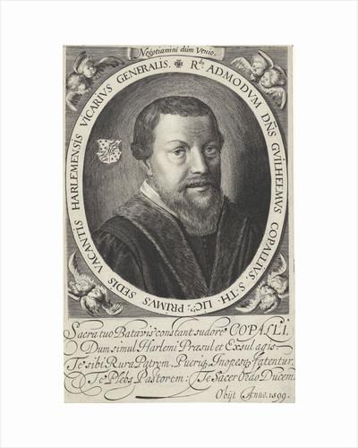 Portrait of William Copallius, Roman Catholic clergyman in Haarlem by Jan van de Velde II
