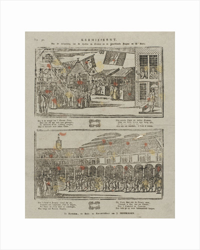 Fair Print, with the image of the games and stalls and guys after the show by Anonymous