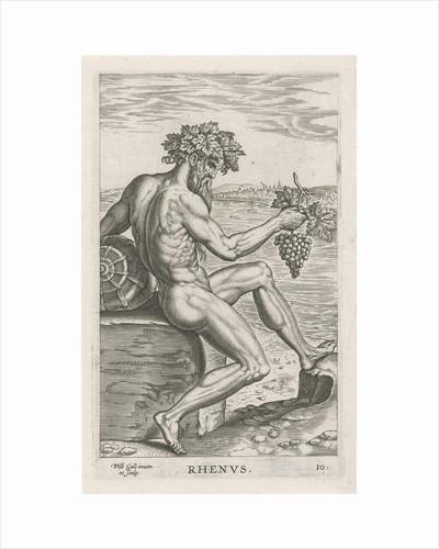 River god Rhenus by Philips Galle