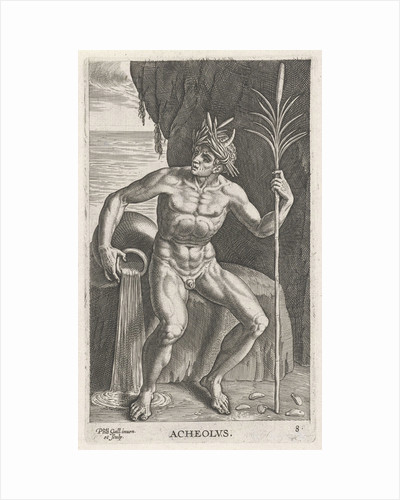 Sea God Achelous by Philips Galle