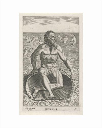Sea God Nereus by Philips Galle