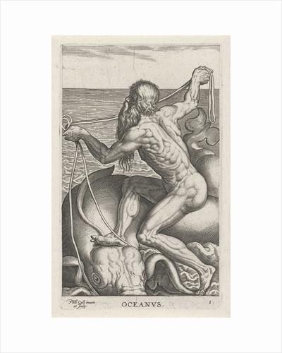 Sea God Oceanus by Philips Galle