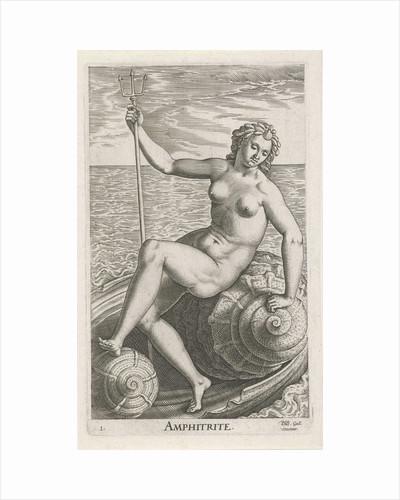 Sea goddess Amphitrite by Philips Galle