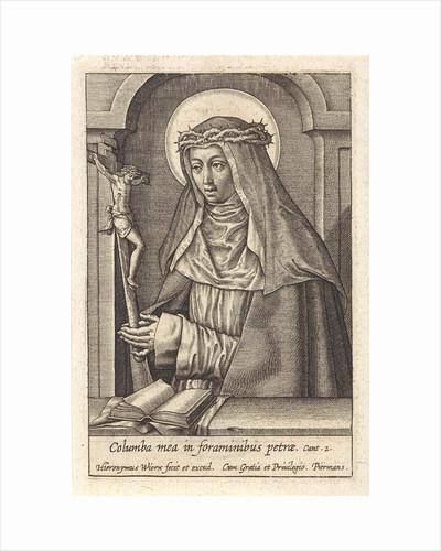 St. Catherine of Siena by Hieronymus Wierix