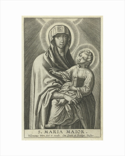 Mary with the Christ Child by Hieronymus Wierix