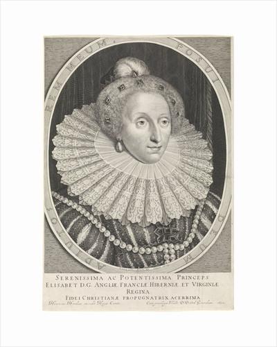 Portrait of Elizabeth I Tudor, Queen of England by Hendrick Hondius I