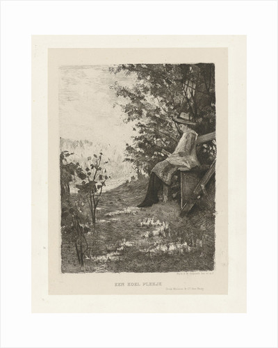 Reading boy on a bench by Mouton & Co.