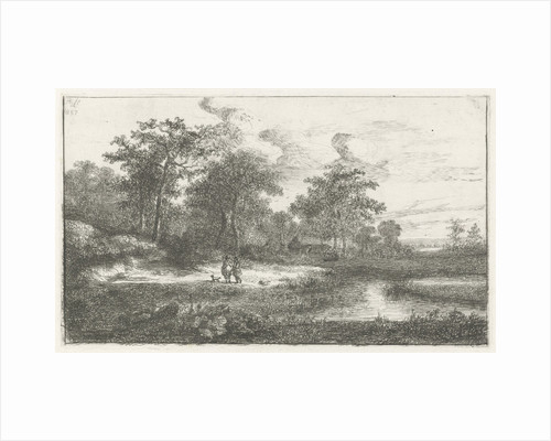 Two hunters in a fen by Hermanus Jan Hendrik van Rijkelijkhuysen