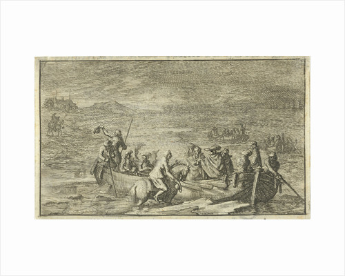 King and his entourage in a rowboat by Jan Claesz ten Hoorn
