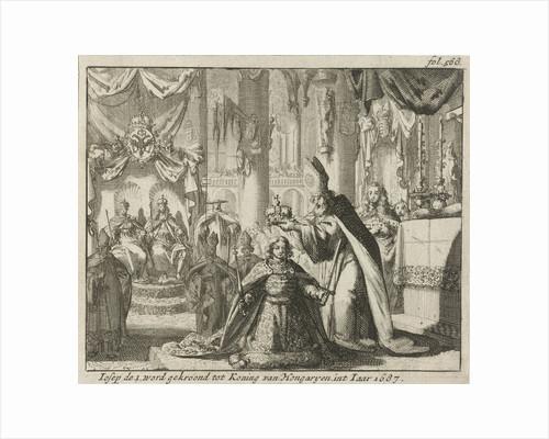 Coronation of Joseph I King of Hungary, 1687 by Jurriaen van Poolsum