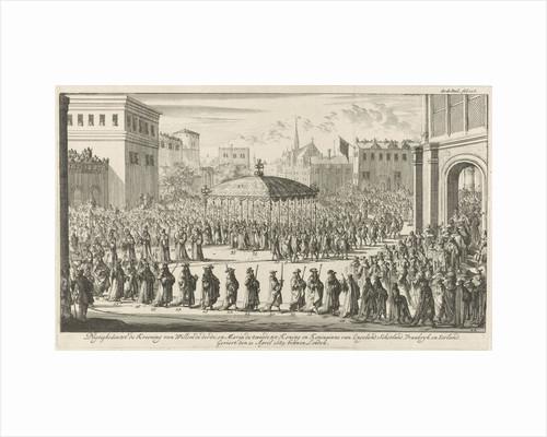 Coronation Procession of William III, 1689 by Jan Claesz ten Hoorn