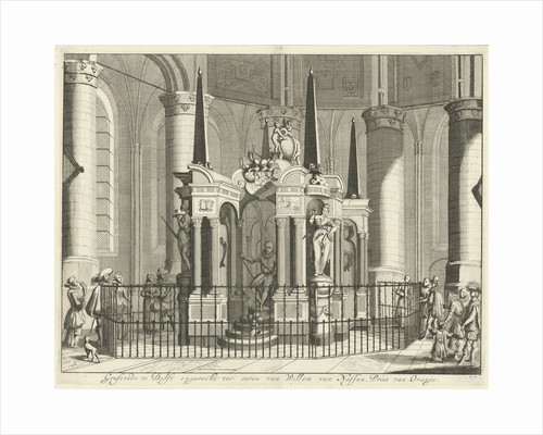 The tomb or mausoleum of William of Orange in the New Church in Delft by Jan Luyken